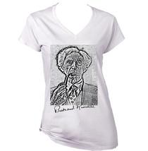 Bertrand Russell   New White Cotton Lady Tshirt - $25.68