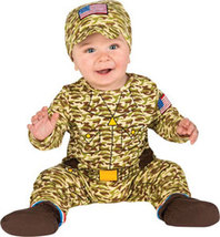Infant Army Man Halloween Costume Size 0-9 Months - $19.00