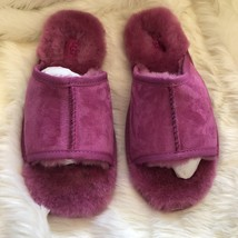 UGG Mellie Suede Slide Fully Lined Slippers Purple Pink Women Size 9 Rare - £87.43 GBP