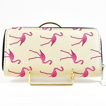 Bijorca Hot Pink Flamingo Tan Clutch Wallet New w Tags image 2