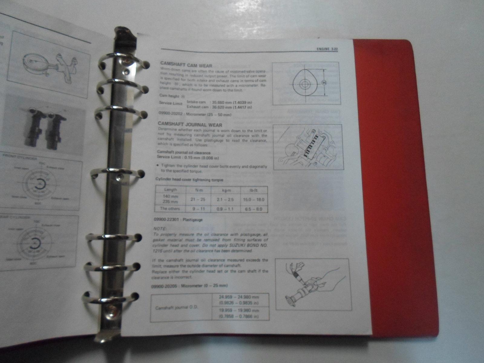 ... 1990 Suzuki VX800 Motorcycle Service Repair Manual BINDER STAINED  FACTORY OEM ...