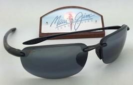Polarized MAUI JIM Sunglasses HO'OKIPA MJ 407-02 Black Frame w/Neutral Grey Lens
