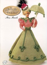 Miss March 1994 Gibson Girl Outfit fits Barbie Doll Crochet Pattern Booklet - $2.67