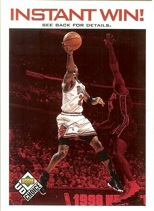 Primary image for 1998 ud michael jordan chicago bulls collectors choice basketball instant win