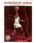 1998 ud michael jordan chicago bulls collectors choice basketball instan... - $3.99