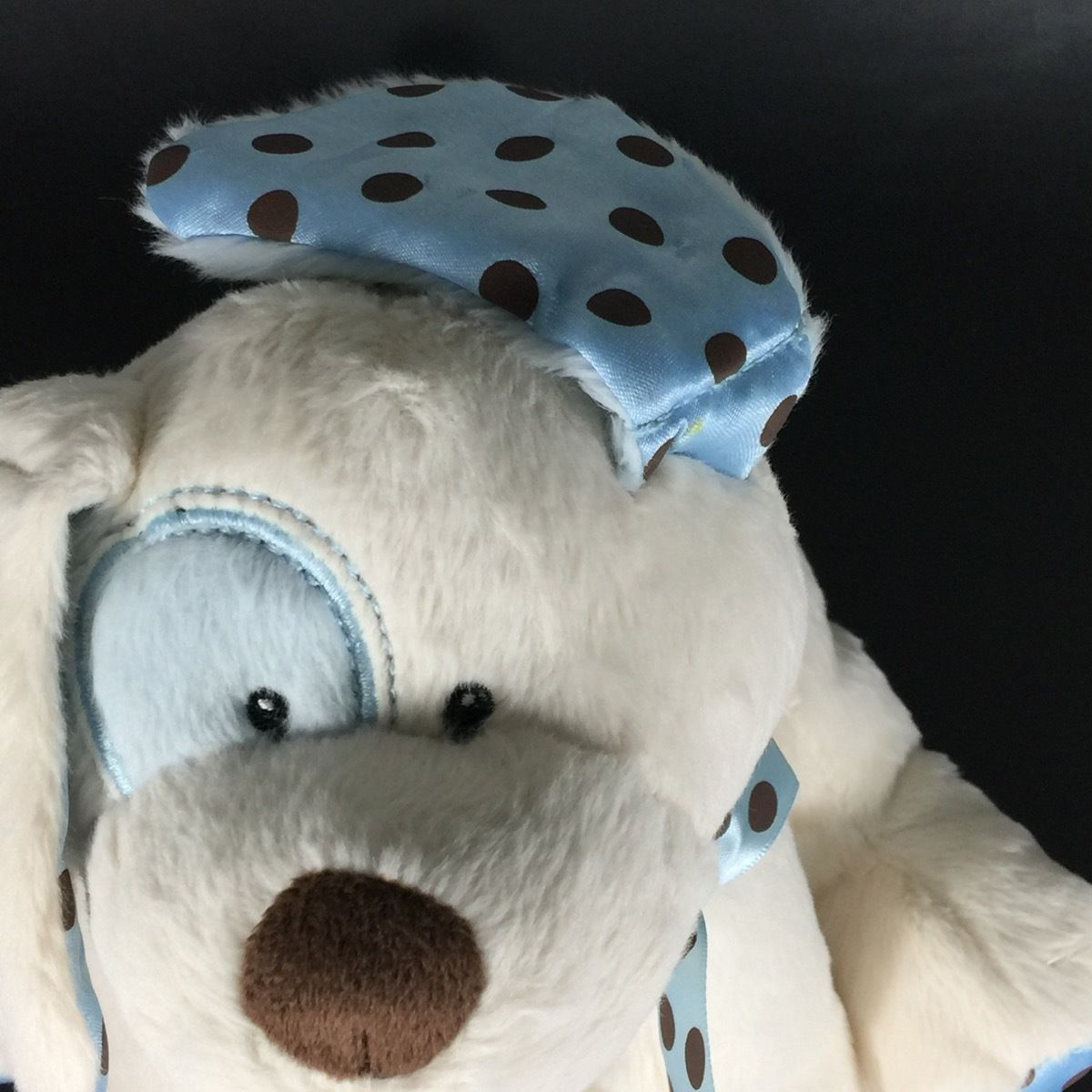Baby GANZ Stuffed Animal Dog Chocolate Drops Puppy Rattle Blue Plush New Toy image 6