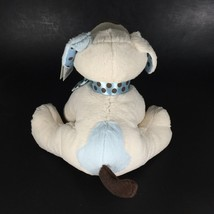 Baby GANZ Stuffed Animal Dog Chocolate Drops Puppy Rattle Blue Plush New Toy image 4