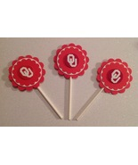 Ncaa Oklahoma Sooners Cupcake Toppers - Birthday Anniversary Party Deco ... - $12.00