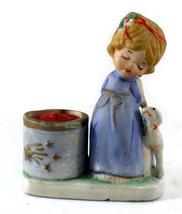 Christmas Luvkins Vintage Porcelain Votive Blon... - $5.50