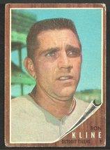 Detroit Tigers Ron Kline 1962 Topps Baseball Card 216 vg - $1.75