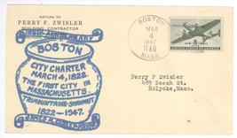 125th Anniversary Boston MA City Charter 1822 1947 Cover! James Curley M... - $7.69