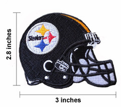 Pittsburgh Steelers Helmet Embroidered Iron On Patch. - $1.20