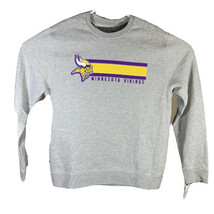 Mens Minnesota Vikings NFL Team Apparel Pullover Crewneck Sweatshirt Lar... - $18.67