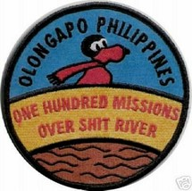 USMC One Hundred Missions Over Sh i-t River Patch Sticker - $9.89