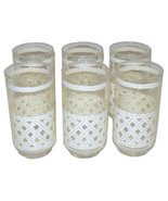 Vintage Mid-Century Faux Bamboo Drinking Glasses-Set of Six - $59.00
