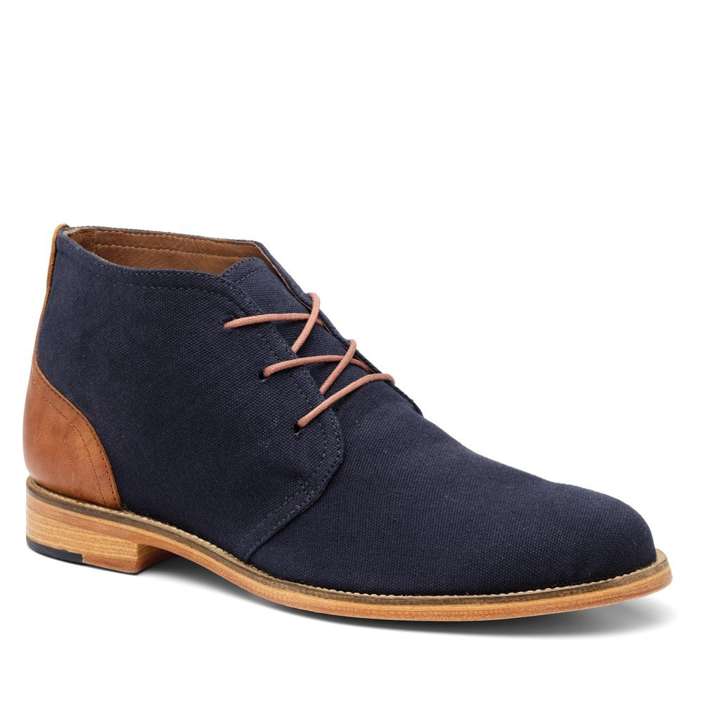 handmade navy blue suede chukka boots mens fashion