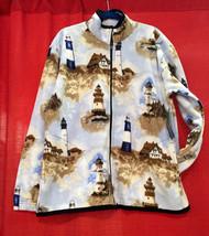 Plush Comfortable Lighthouse Polar Berber Fleece Jacket Winter Warm Vintage  - $64.95