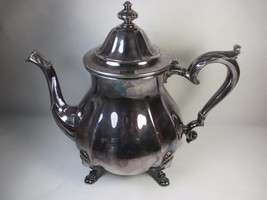 Vintage Chippendale 6302 Footed Silverplate Tea... - $84.15