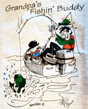 T-Shirt GRANDPA'S FISHIN' BUDDY Youth Tee Cowboy Kid Boy Fishing Pole Boat Cap - $6.64 - $9.49