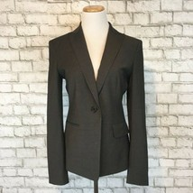 Ann Taylor Women's Professional Career Gray Single Button Blazer Jacket ... - $31.49