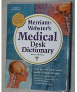(2) Merriam Webster's Medical Desk Dictionary, Revised Edit  Quantity of 3 - $9.99