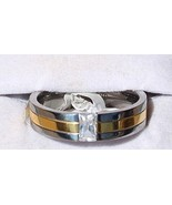 Attractive Gents Ring W/ 1.01ctw Cubic zirconia Made of Titanium - Size ... - $39.60