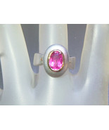 Bezel Oval 2ct Pink Tourmaline Solitaire Ring S... - $199.00