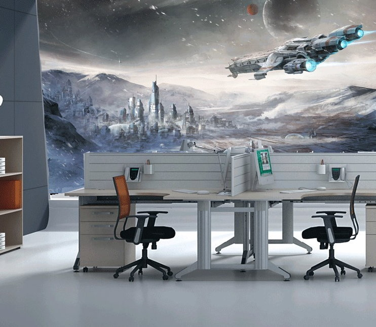 Outer Space Spaceship Planet Sci-fi Design Wallpaper Mural Wall Art Star Wars for sale  USA