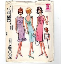 Vtg 1973 Pattern Simplicity #5862 Bib Jumper Dress 2-Lengths Groovy Uncu... - $10.40