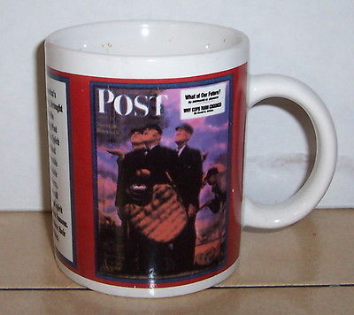Coffee Mug Cup Saturday Evening Post Ceramic