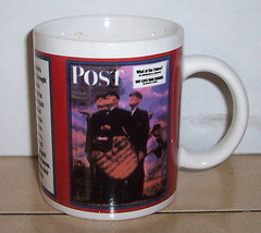 Coffee Mug Cup Saturday Evening Post Ceramic - $9.50