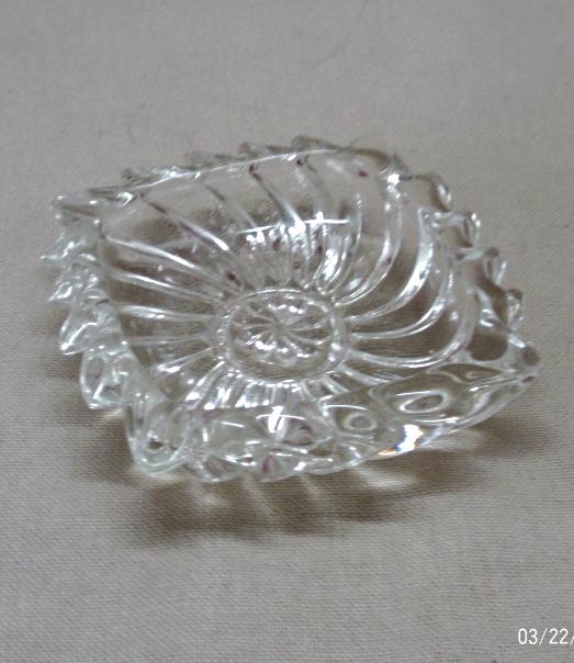 Vintage Mid Century Pressed Glass Single Use Ashtray // Trinket Dish //Ring Dish