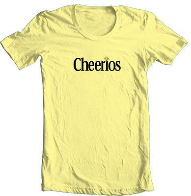 Cheerios T shirt retro 70's 80's cereal 100% cotton graphic printed tee