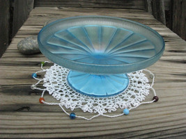 Vintage Fenton Satinglass Iridescent Compote/ Opalescent Candy Dish/ Stretch Gla - $25.00