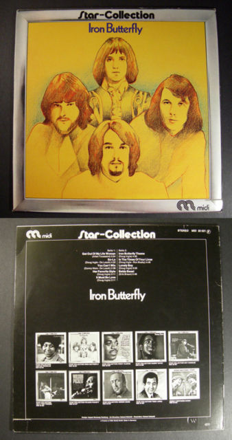 psych IRON BUTTERFLY Star Collection MIDI German LP