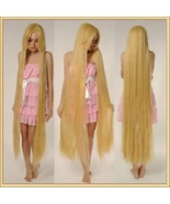 Straight Natural Beige Blonde Extra Long Length Long Bangs Center Parted... - $87.95