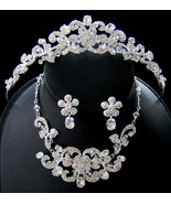 Austrian Crystal Couture Tiara Jewelry Set - $108.62
