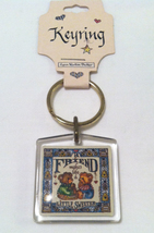 NEW Monarch Creations keyring key ring A Friend Makes Life Sweeter bears... - $2.00