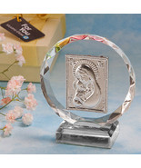 Exquisite Madonna and Child Crystal Plaque - $2.95
