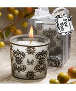 Damask Design Candle Favors - $1.95
