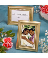 Beaded Design Gold Metal  Place Card/Photo Frames - $1.08