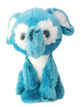 "Peek A Boo Toys Elephant Plush Stuffed Animal Toy Blue 11"" White Big Eyes - $9.99"