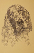 GORDON SETTER DOG ART PRINT #43 Stephen Kline w... - $49.45