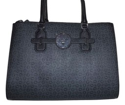 NEW GUESS WOMEN'S MYTH SATCHEL HANDBAG WITH MAGNETIC TAB CLOSURE CHARCOAL - $108.85