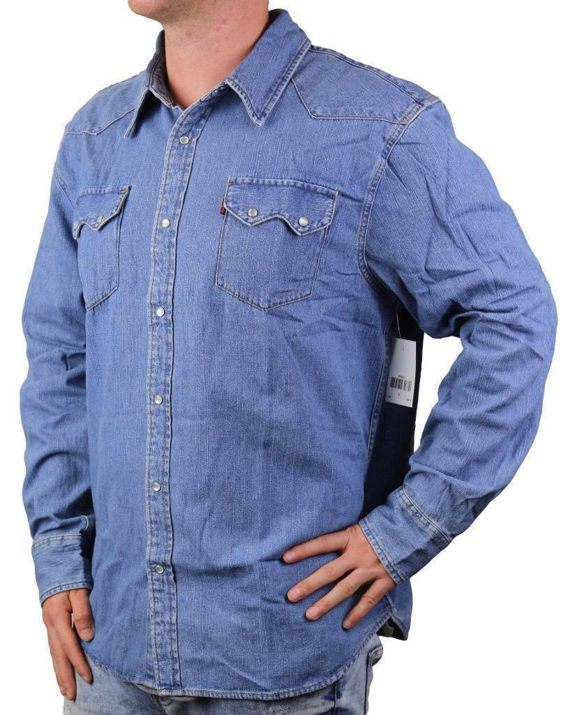 Levi's Men's Classic Long Sleeve Denim Button Up Casual Dress Shirt 381006Cc