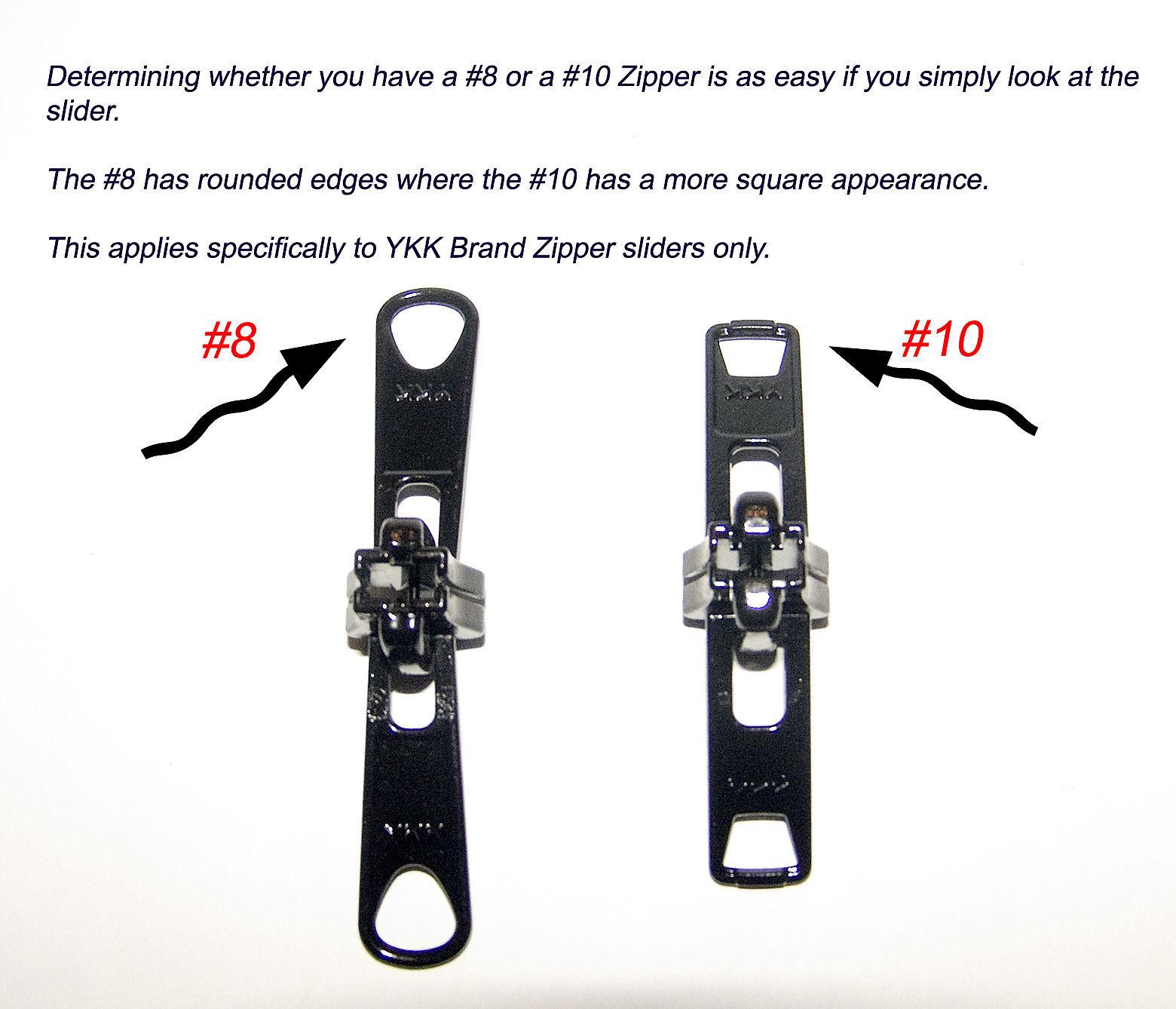 Zipper Slider, YKK Vislon, Double Metal Pull Tab, #8, White, 2 Pc. image 4