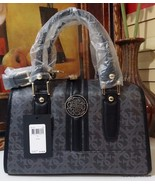 NWT GUESS HERITAGE QUATTRO G FRAME SATCHEL COAL - $99.99