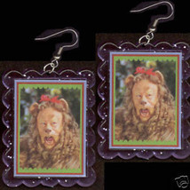 HUGE@ Funky Wizard of Oz COWARDLY LION EARRINGS Jewelry - $6.99