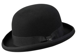 NEW Conner Hats Australian Wool Traditional Tuxedo BOWLER DERBY Hat Blac... - €50,57 EUR