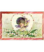 A Token of Affection Tuck 1908 Vintage Post Card - $6.00